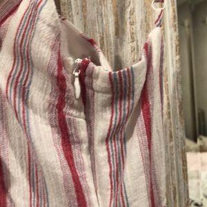 Tobi Dresses - TOBI RED AND WHITE STRIPPED TIE KNOT MINI DRESS